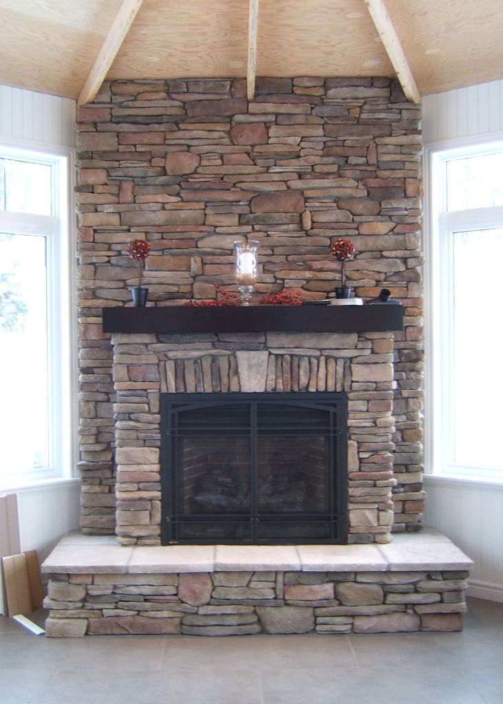 Image Result For Ledge Stone Fireplace
