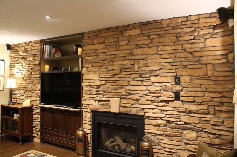 Cultured Stone Walls : Cultured stone accent wall the stoners