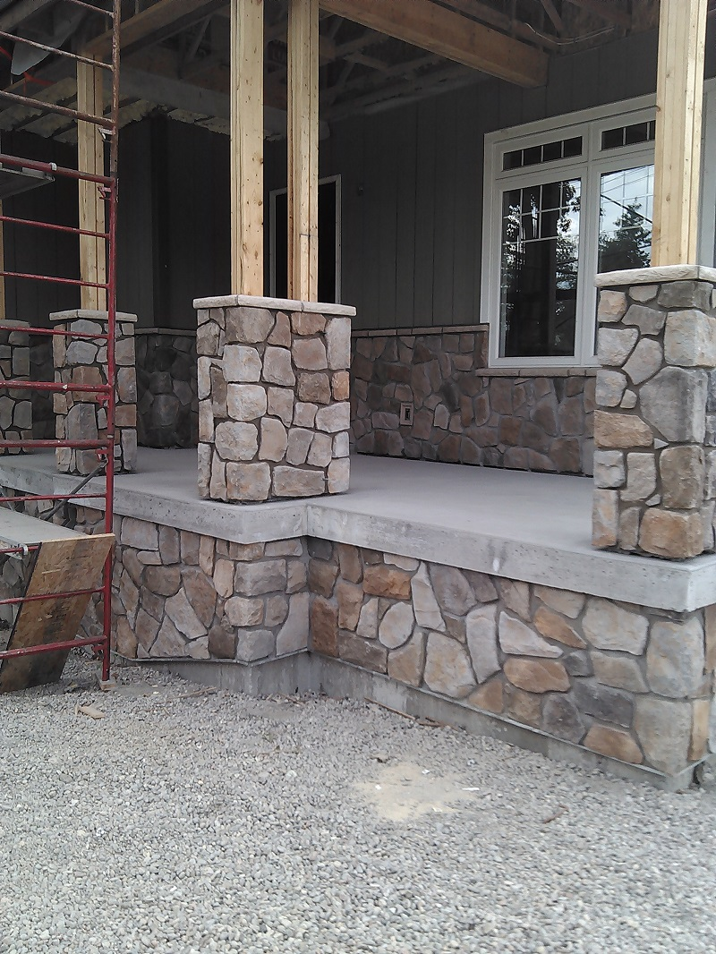 Cultured Stone Pillars : Aspen cultured stone on a new build in the barrie area