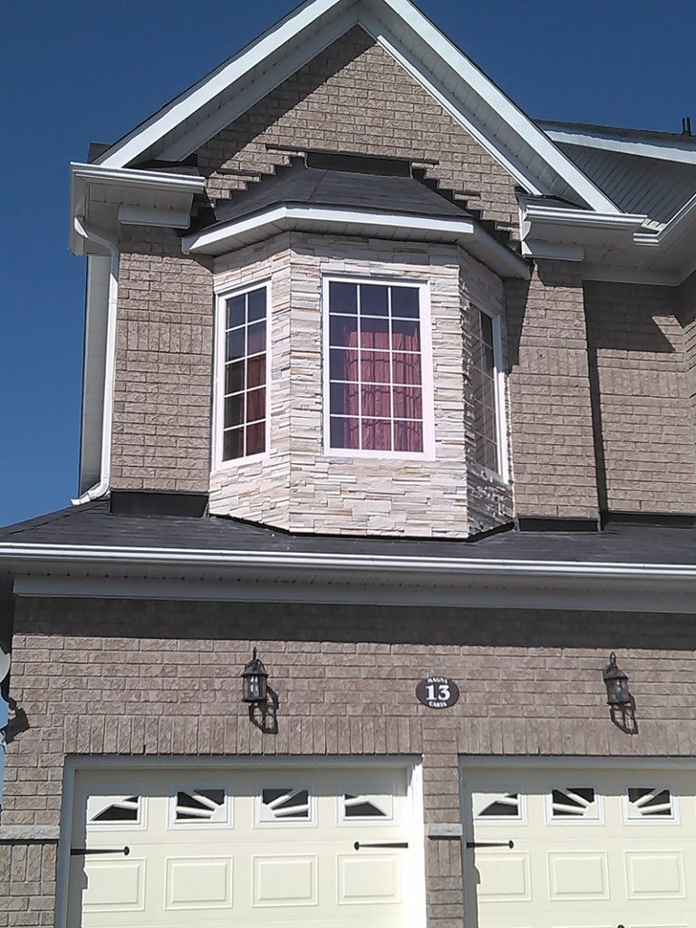 Cultured Stone on a bay window