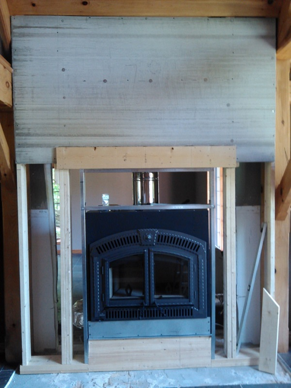 Framing for Fireplace.
